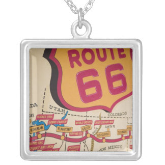 USA, Kentucky, Bowling Green: National Corvette 5 Silver Plated Necklace