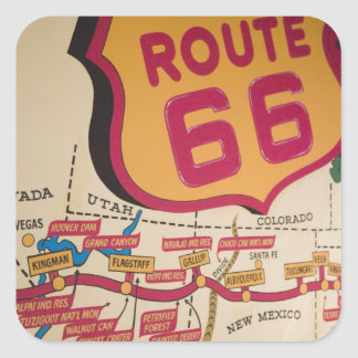 USA, Kentucky, Bowling Green: National Corvette 5 Square Sticker