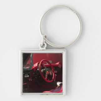 USA, Kentucky, Bowling Green: National Corvette Silver-Colored Square Key Ring