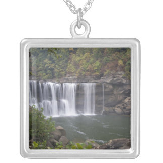 USA - Kentucky. Cumberland Falls on the Silver Plated Necklace