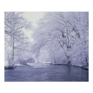 USA, Kentucky, Louisville. Snow covered Poster