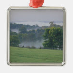 USA, Kentucky. Rolling hills of the Bluegrass Silver-Colored Square Decoration
