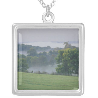USA, Kentucky. Rolling hills of the Bluegrass Silver Plated Necklace