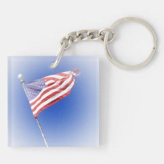USA key ring Double-Sided Square Acrylic Key Ring