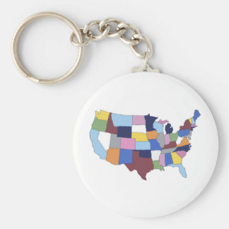 USA KEY RING