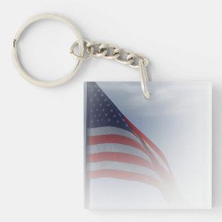 USA key ring II Double-Sided Square Acrylic Key Ring