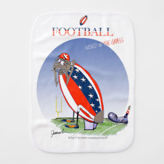 USA kicked in the grass, tony fernandes Baby Burp Cloth