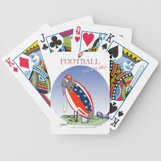 USA kicked in the grass, tony fernandes Poker Deck