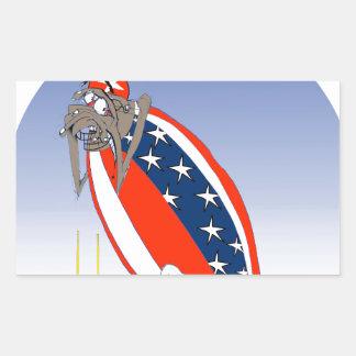 USA kicked in the grass, tony fernandes Rectangular Sticker
