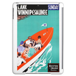 USA Lake Winnipesaukee Restored Vintage Poster