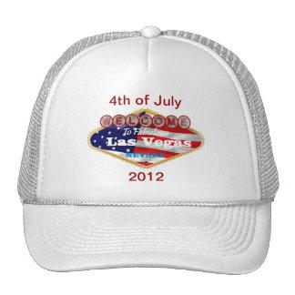 USA Las Vegas Logo 4th of July Hat