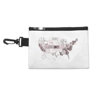 USA license plates - all states red Accessories Bag