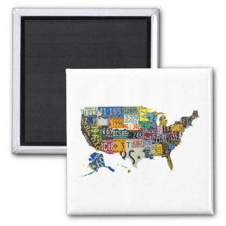 USA license plates - all states Square Magnet