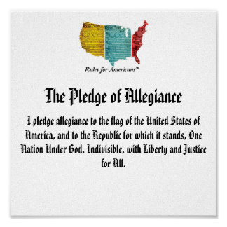 USA Logo Pledge of Allegiance Poster