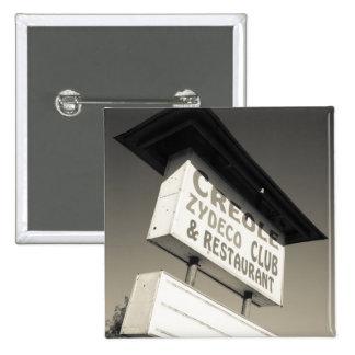 USA, Louisiana, Henderson. Creole Zydeco Music 15 Cm Square Badge