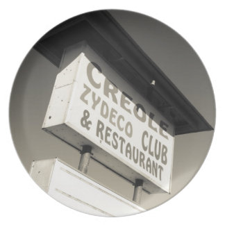 USA, Louisiana, Henderson. Creole Zydeco Music Plate