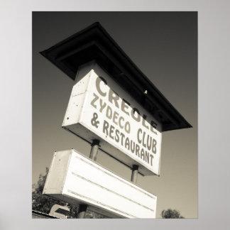 USA, Louisiana, Henderson. Creole Zydeco Music Poster