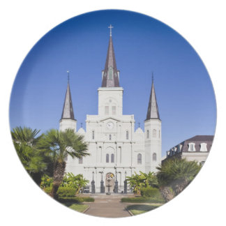 USA, Louisiana, New Orleans. French Quarter, Party Plates