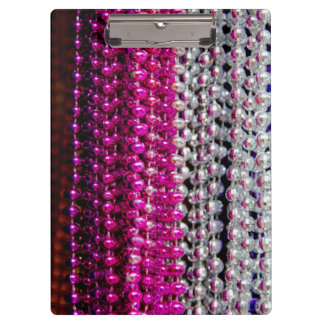 USA, Louisiana, New Orleans. Mardi Gras Beads Clipboards