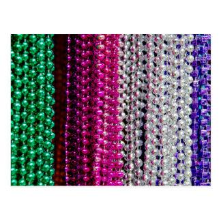 USA, Louisiana, New Orleans. Mardi Gras Beads Postcard