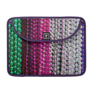 USA, Louisiana, New Orleans. Mardi Gras Beads Sleeve For MacBooks