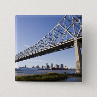 USA, Louisiana, New Orleans. Skyline from the 2 15 Cm Square Badge