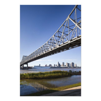 USA, Louisiana, New Orleans. Skyline from the 2 Photographic Print