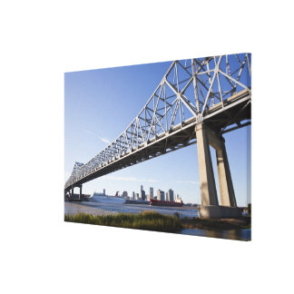 USA, Louisiana, New Orleans. Skyline from the Canvas Print