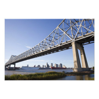 USA, Louisiana, New Orleans. Skyline from the Photo Print