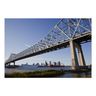 USA, Louisiana, New Orleans. Skyline from the Poster