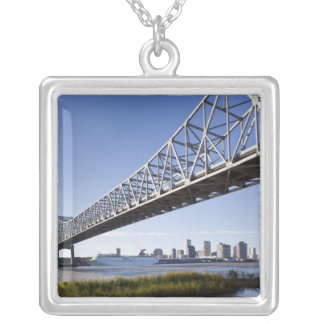 USA, Louisiana, New Orleans. Skyline from the Silver Plated Necklace