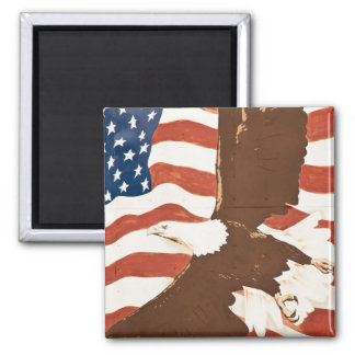 USA, Louisiana, Port Allen. Patriotic mural Magnet