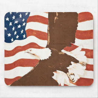 USA, Louisiana, Port Allen. Patriotic mural Mouse Mat