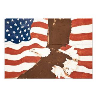 USA, Louisiana, Port Allen. Patriotic mural Photograph