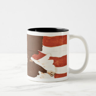 USA, Louisiana, Port Allen. Patriotic mural Two-Tone Coffee Mug
