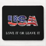 USA love it or leave it Mouse Mats