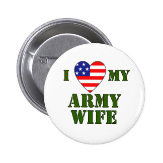 USA-LOVE My Army wife 6 Cm Round Badge