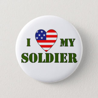 USA-LOVE MY SOLDIER 6 CM ROUND BADGE