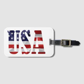 USA LUGGAGE TAG