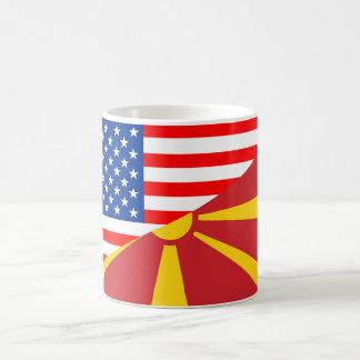 usa macedonia country half flag america symbol coffee mug