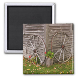 USA, Main. Wagon Wheels Square Magnet