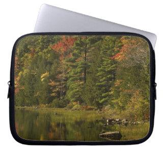 USA; Maine; Acadia NP. Fall reflections at 2 Laptop Sleeve