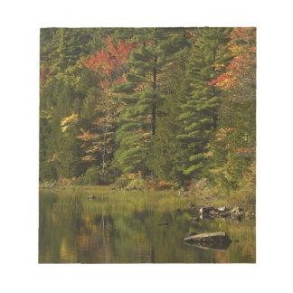 USA; Maine; Acadia NP. Fall reflections at 2 Notepad