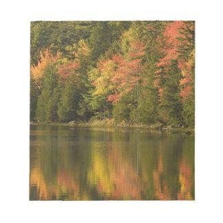 USA; Maine; Acadia NP. Fall reflections at Notepad