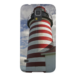 USA, Maine, Lubec. West Quoddy Head LIghthouse Galaxy S5 Cases