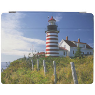 USA, Maine, Lubec. West Quoddy Head Lighthouse iPad Cover