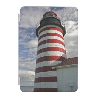 USA, Maine, Lubec. West Quoddy Head LIghthouse iPad Mini Cover