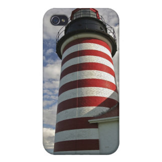 USA, Maine, Lubec. West Quoddy Head LIghthouse iPhone 4/4S Case