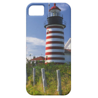 USA, Maine, Lubec. West Quoddy Head Lighthouse iPhone 5 Cover