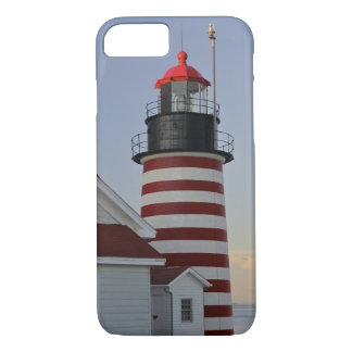 USA, Maine, Lubec. West Quoddy Head Lighthouse, iPhone 8/7 Case